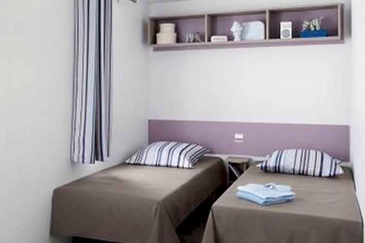 Chambre lits jumeaux mobilhome Loggia