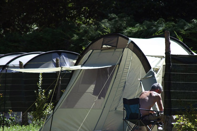 Campsite pitches for a tent or a folder