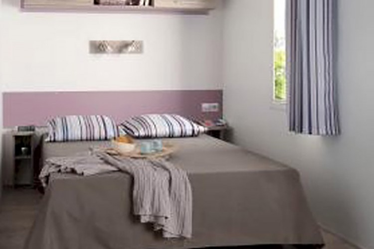 Chambre lit double mobilhome Loggia